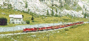 Bernina Express bei Diavolezza